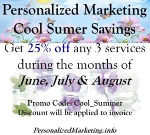 Personalized Marketing Cool Summer Savings