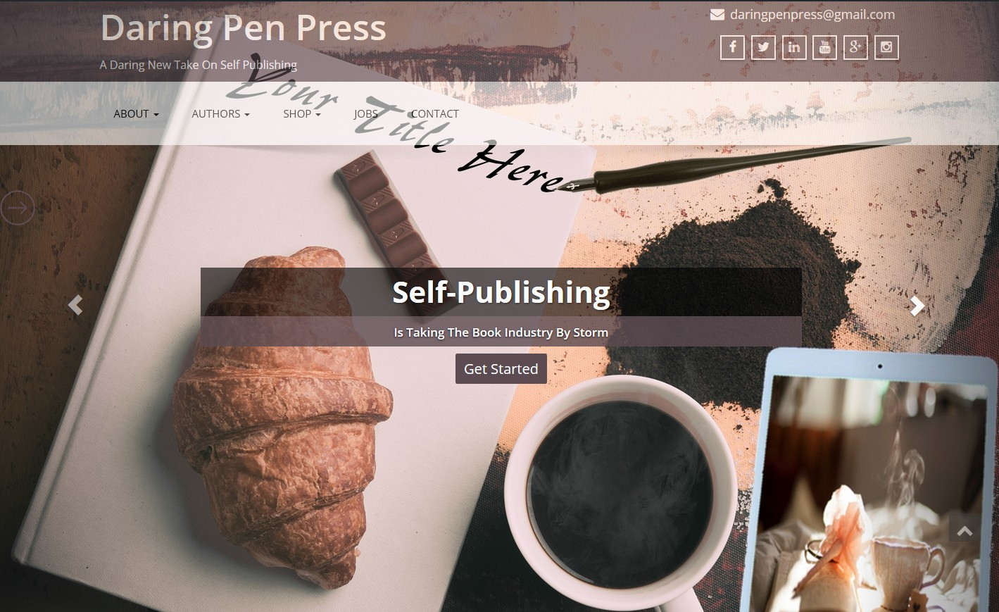 Daring Pen Press Website Design