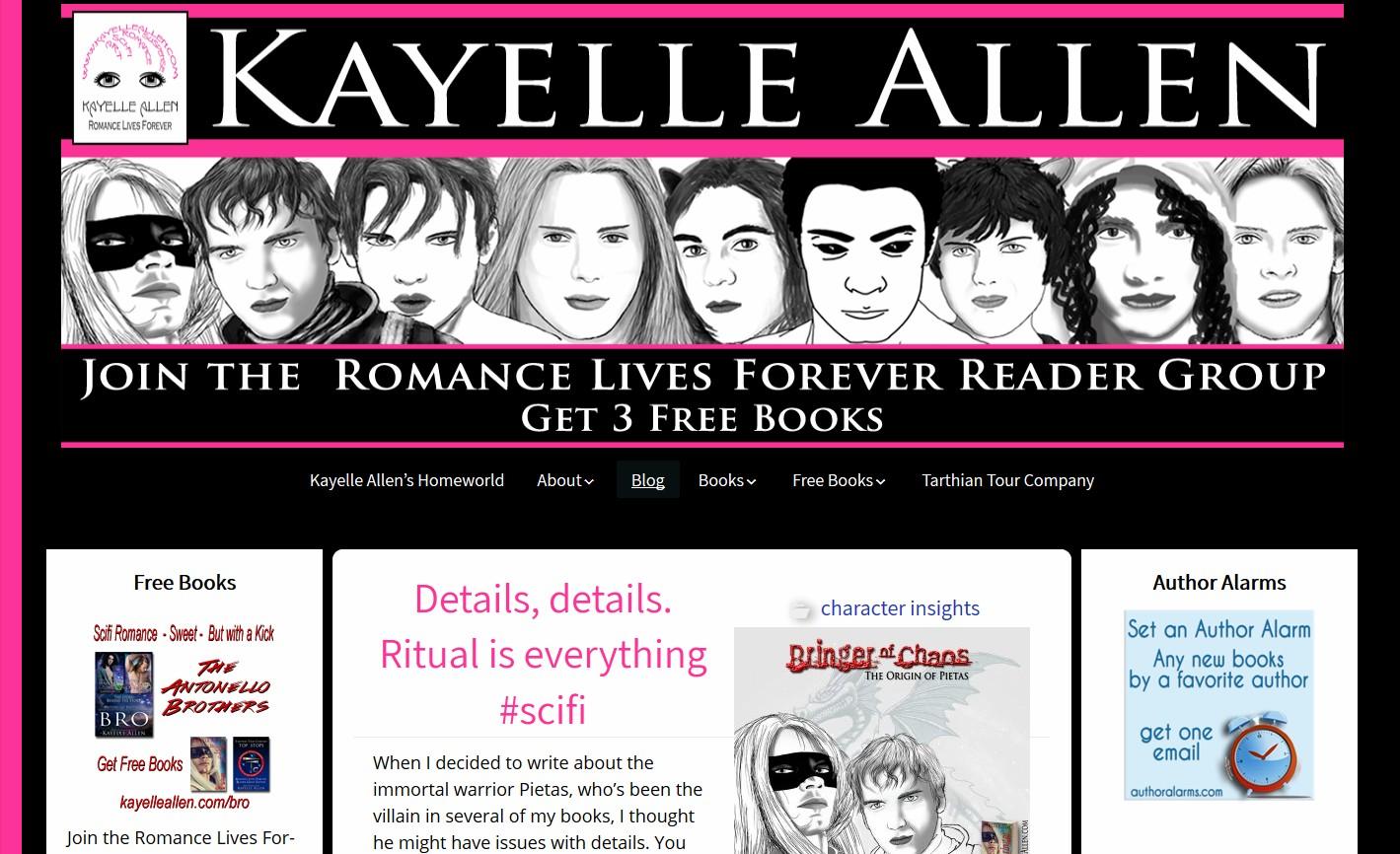 Kayelle Allen Website Layout