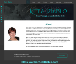 Author Keta Diablo WordPress Design - Personalized Marketing Inc