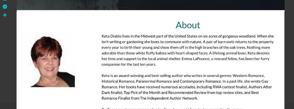 Author Keta Diablo WordPress Design - Personalized Marketing Inc